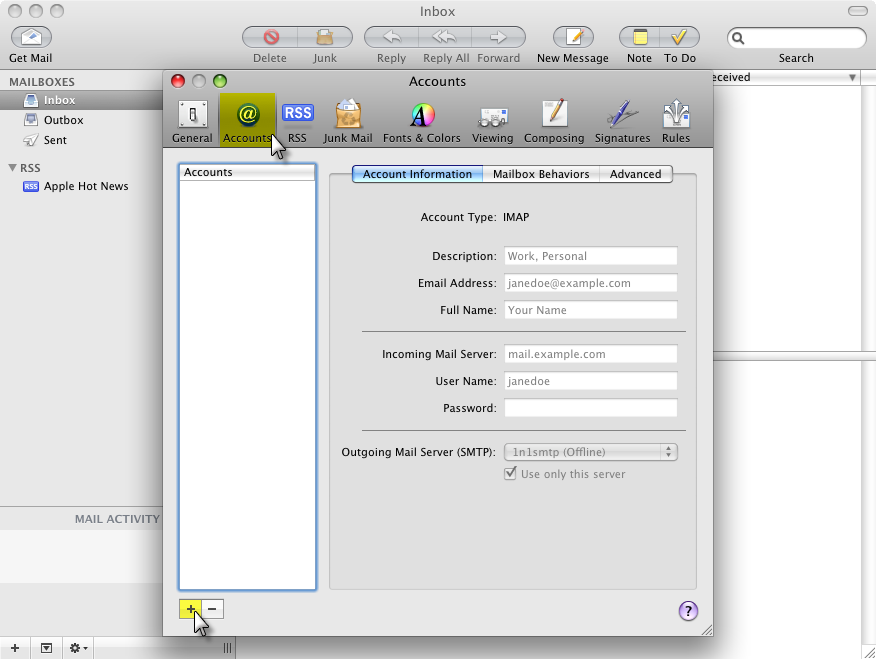 Setting Up Your Apple Mail Client